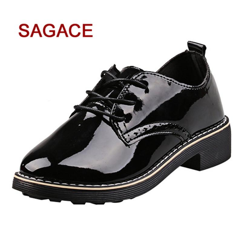 c7f7744a0c0 HB@SAGACE Ladies Boots Women Square Heel Shoes Martain Boots Patent Leather  Round Toe Lace Up Shoes Dropship Shoe Boots Over Knee Boots From Backyar,  ...