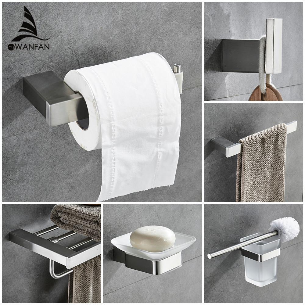 2019 Metal Bathroom Sets European Modern Towel Ring Toilet