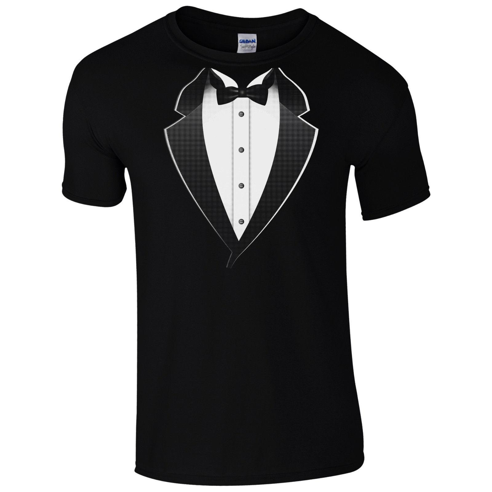 4a4a83320 Tuxedo Fancy Dress T Shirt Funny Stag Do Party Tux Smart Suit Gift Mens Top  Cool Casual Pride T Shirt Men T Shirt Slogans Dirty T Shirts From  Designtshirts, ...