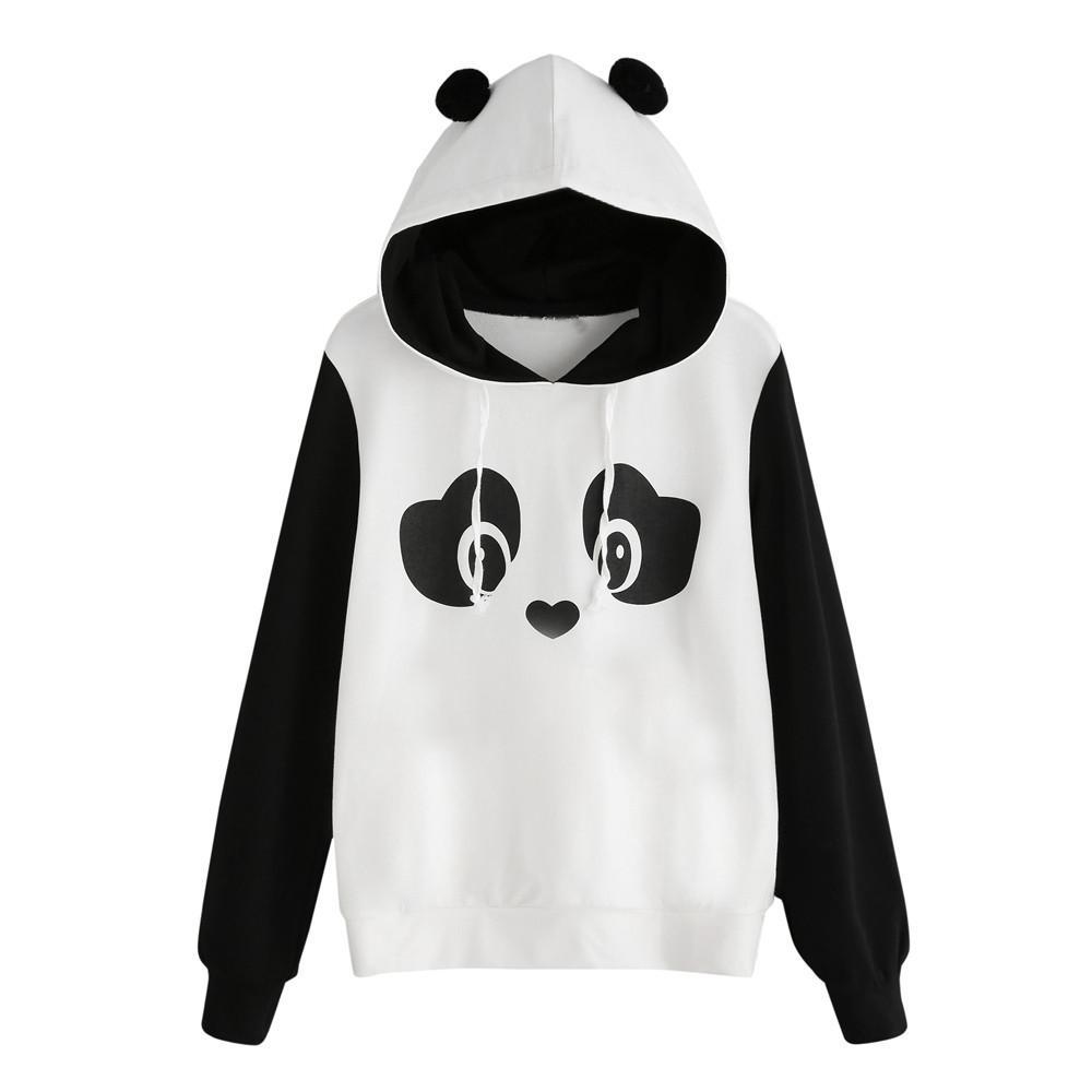 Panda Con Moda Acquista Cappuccio Donna Bella Felpa BgaFU
