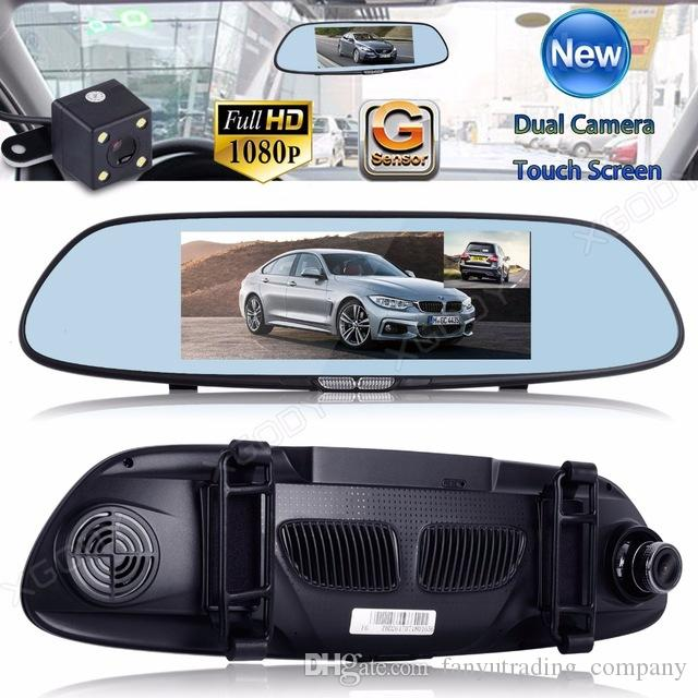 7'' Dual Lens Dash Camera Real 1080P Video Recorder Front and Back ViewReversing Vehicle Auto Dashcam Rear Mirror Car DVR Night Vision