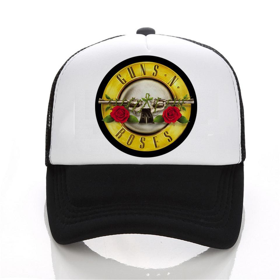 4cbdd714e2a Fashion Cap Print Shirts Guns N Roses Led Zeppelin The Beatles ...