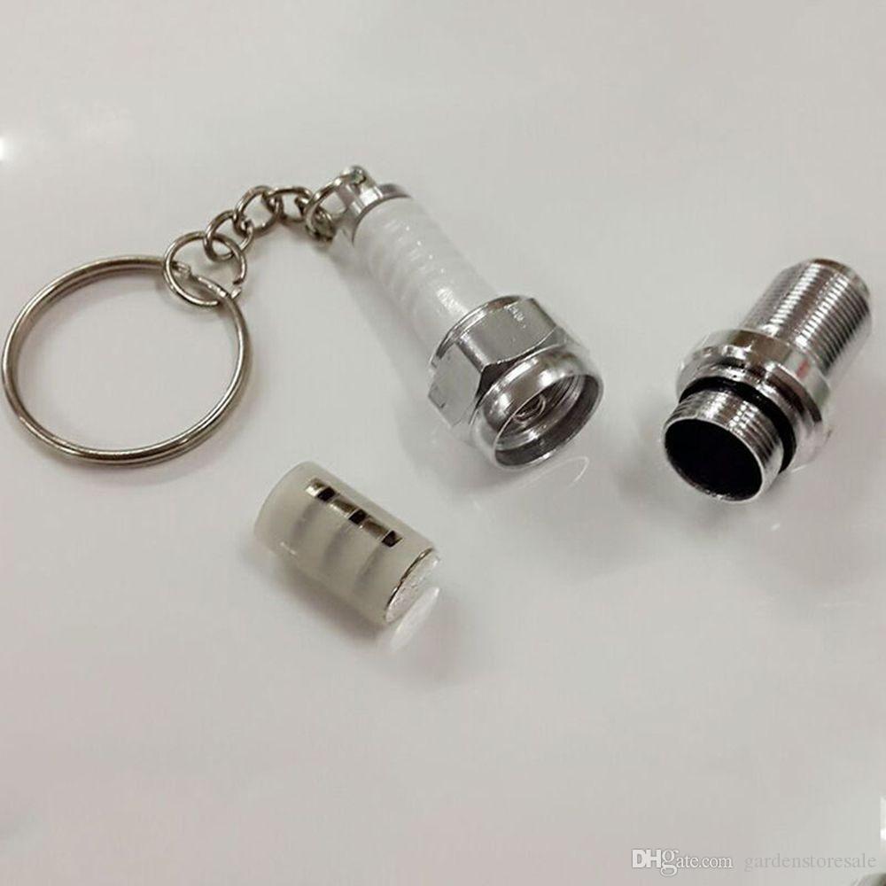/ Venta Caliente Cadena Dominante Del Coche Llavero Caso Unisex Novedad LED Luz Bujía Mini Llavero Exterior