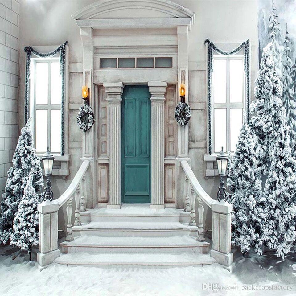 Großhandel Weihnachten Winter Scenic Fotografie Backdrops Printed ...