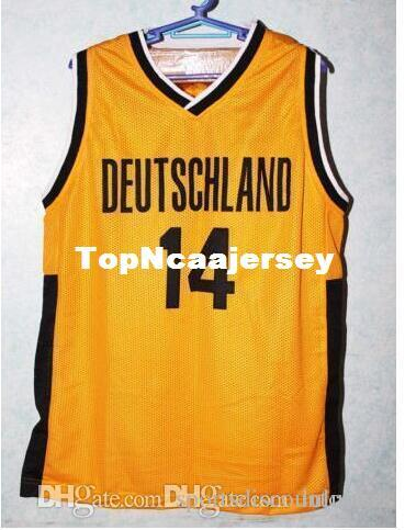 2019 Factory Outle Dirk Nowitzki 14 TEAM DEUTSCHLAND GERMANY Basketball  Jersey Black Gold Top Stitched Jerseys Customized Any Name And Num From ... 793e024a5