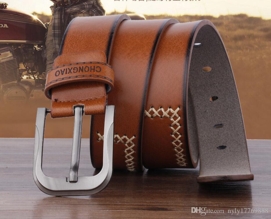 La nueva edición 2017 de han de los hombres de moda de ocio plaza personalidad cinturón joven cinturón marrón C3