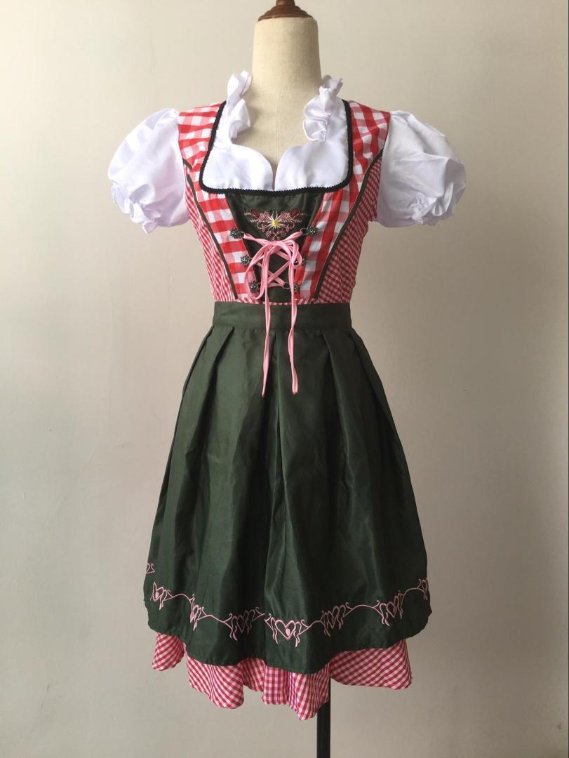 Dirndl Bavarian Traditional Alps Oktoberfest German Beer Girl Costume 1126