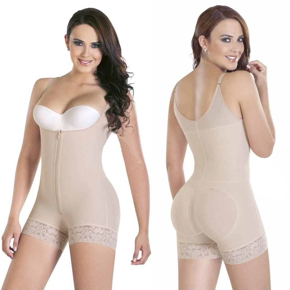 04e225cd87924 2019 Women Colombian Body Shaper Compression Shapewear Bodysuit Waist Shaper  Butt Lifter AIC88 From Songzhi