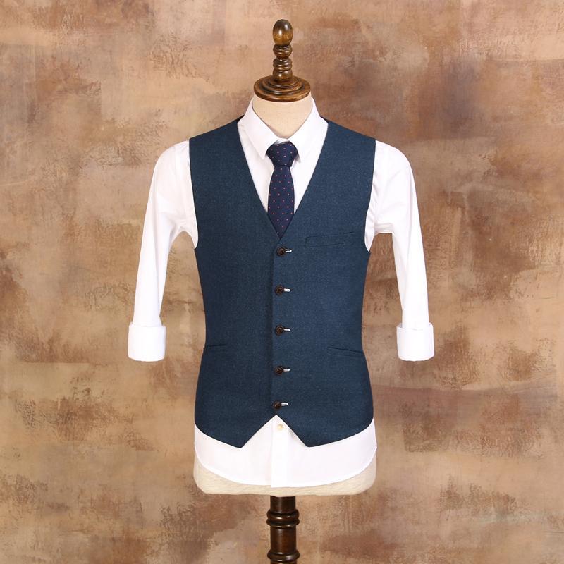 2018 Mens 2017 New Summer Suit Vest Male Blue Slim Vest For Wedding ...