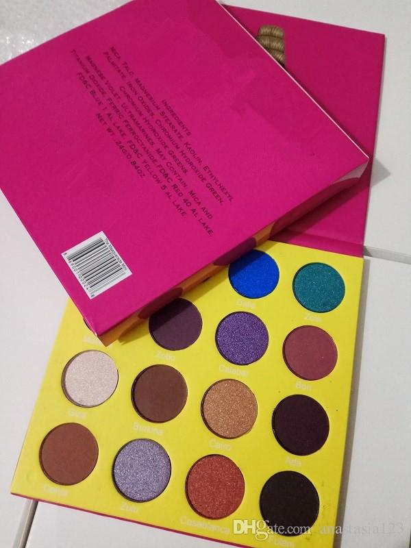 Alta qualidade! maquiagem profissional 12 cores Mulheres Moda Olho Amarelo Sombra paleta de maquiagem Matte Paleta da sombra