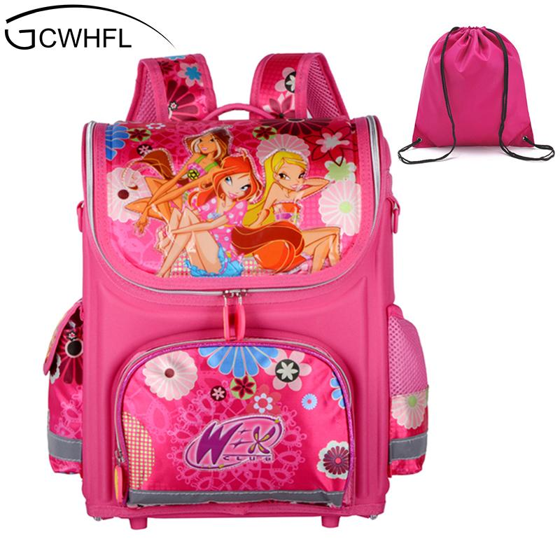 6b694d9772b3 GCWHFL Brand Orthopedic Schoolbag Girls Backpacks For School Kids Rucksack  Children School Bag Princess Knapsack Mochila Escolar Cool Backpacks For  Girls In ...