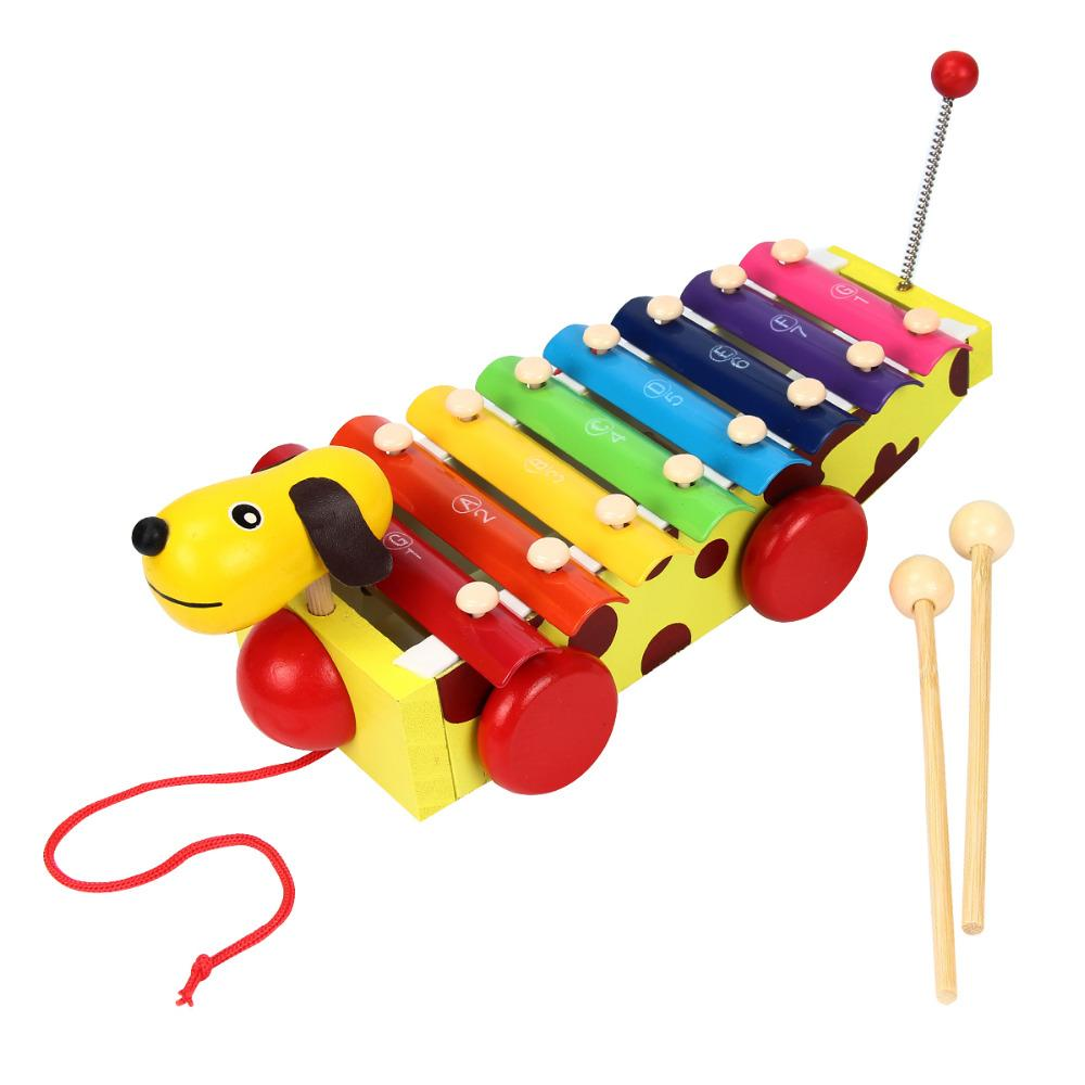 cartoon dog hand knock xylophone toys hand knock piano toy musical  instrument toy educational music toys for children