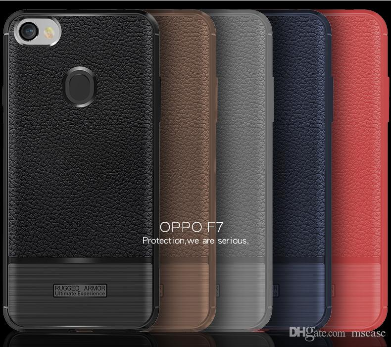 For OPPO F7 A3 R15 Dream Vivo X21 UD X21i Leather Skin TPU Shockproof Brush  Back Cover Phone Case Pouch Anti Sweat Fall Fingerprint