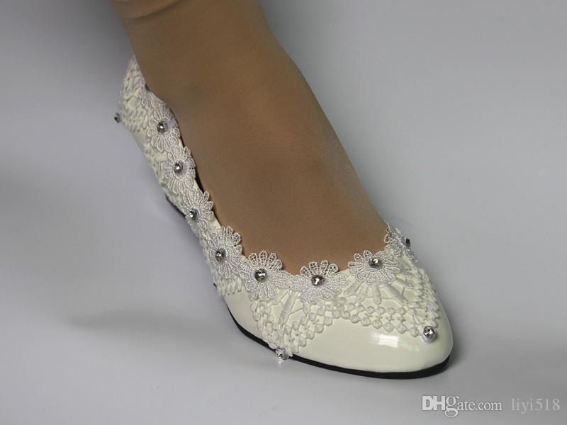 Scarpe Da Sposa Zeppa.Acquista Nuove Scarpe Da Sposa Con Diamante Manuale In Pizzo