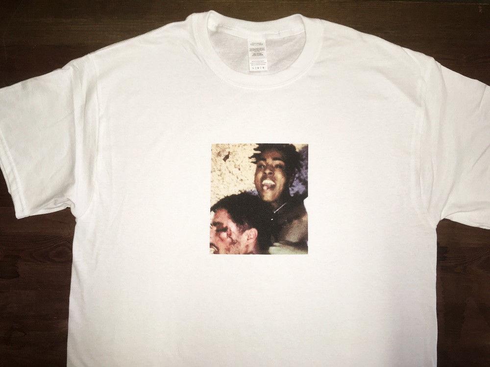 2a75da1a XXXTentacion   YuNg BrAtZ   Men's White T-Shirt   Bad Vibes Foreversize  discout hot new tshirt