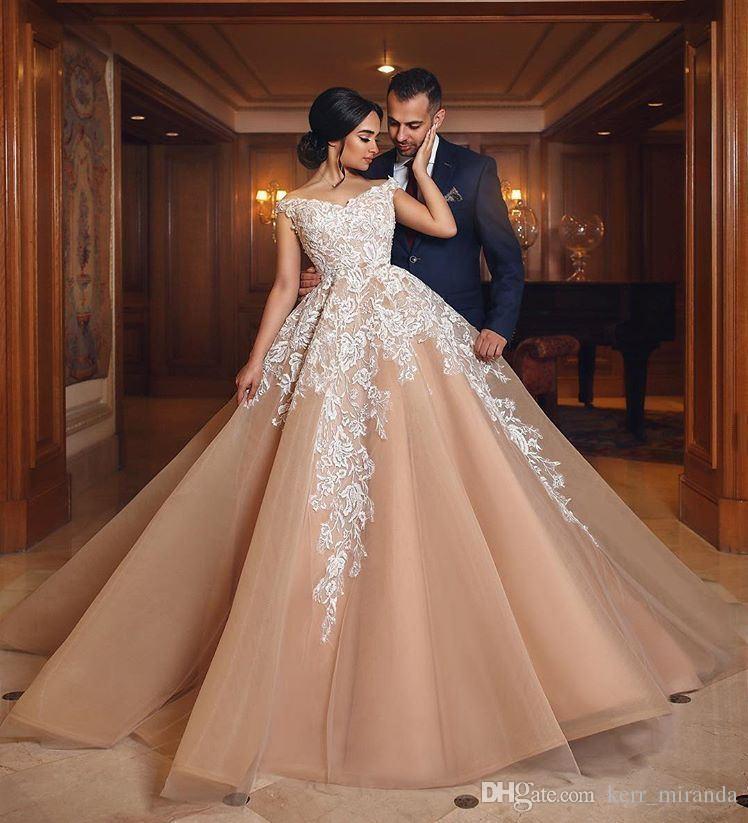 Elegant Ball Gown Wedding Dresses: Elegant Ball Gown Wedding Dresses Off The Shoulder