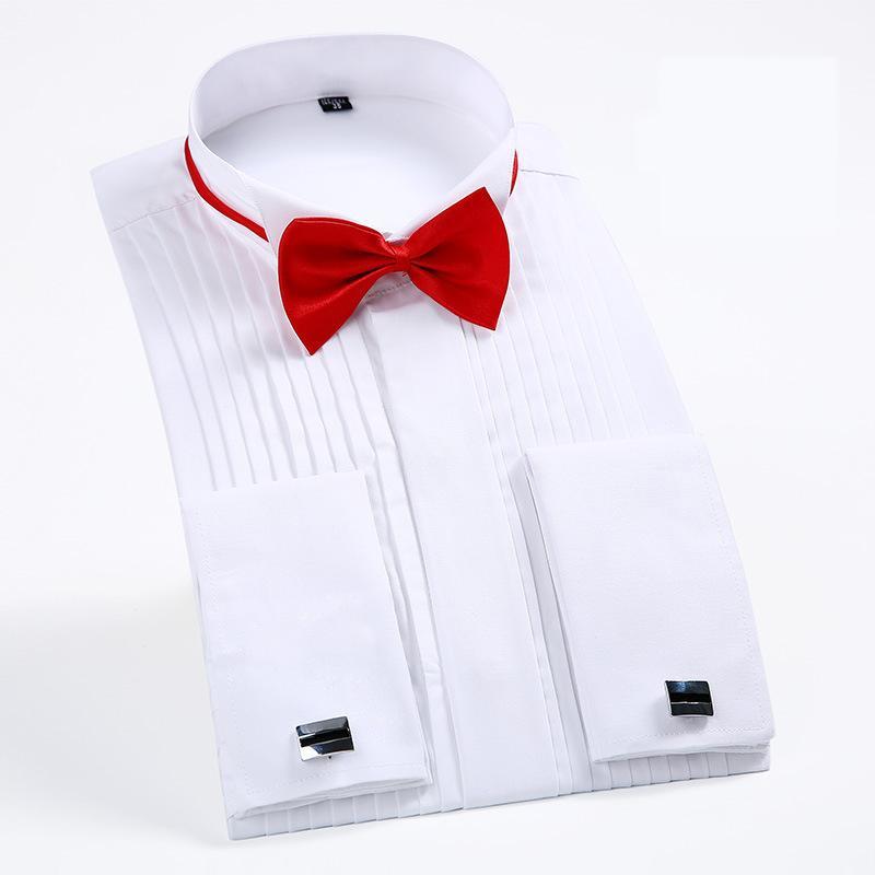 a5a89d781fe Großhandel Französisch Manschette Herren Formale Smokinghemden Bräutigam Hochzeit  Langarm Slim Fit Französisch Manschettenknöpfe Shirt Camisa Von Bigseaa