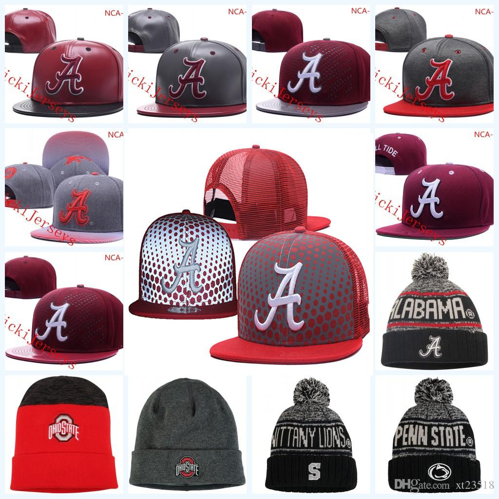 2019 NCAA Alabama Crimson Tide Snapback Caps Black Ohio State Buckeyes Knit Hat  Penn State Nittany Lions Beanies Caps One Size Fit All From Xt23518 3e826394d336