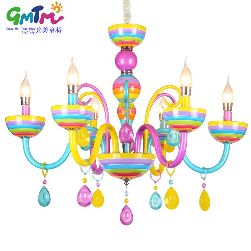 Colorful chandelier glass crystal modern for restaurantbedroom colorful chandelier glass crystal modern for restaurantbedroomdinning roomliving room children candle lamp lustre para quarto contemporary chandeliers aloadofball Images