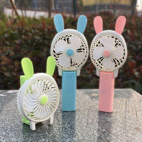 미니 접는 휴대용 팬 만화 고양이 마우스 토끼 USB 충전식 접이식 휴대용 여름 에어 쿨러 냉각 팬 휴대용 팬 C4131