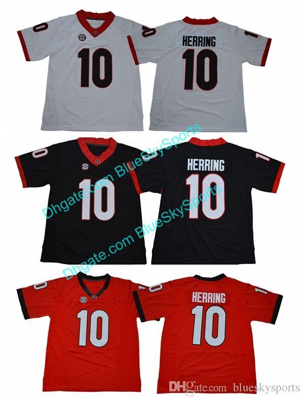 b0e830fab 2019 Georgia Bulldogs 10 Malik Herring Red White Black College Football  Jerseys  10 Malik Herring Jersey Mens Stitched S 3XL From Blueskysports