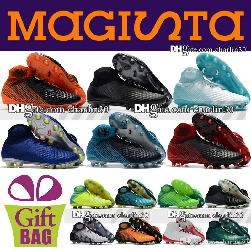 d37ac22af043 Cheap Original Magista ACC Soccer Boots Sneakers Man Magista Obra II FG AG  Football Shoes High Ankle Outdoor Trainers Socks Soccer Cleats Grey Boots  Brown ...