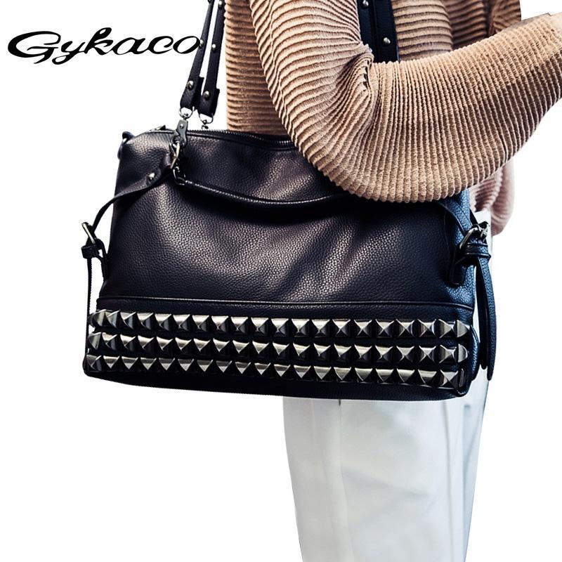 68a4b95d2b Women Luxury Handbag Designer Handbags High Quality Rivet Tote Bags  Handbags Women Famous Brands Ladies Bags 2017 Bolsa Feminina Laptop Bags  Leather ...