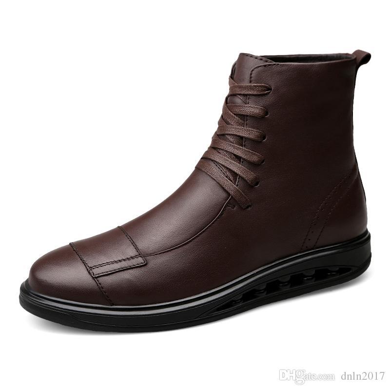 new concept 90026 daddd Stivali in vera pelle da uomo di grandi dimensioni Scarponi militari  Stivali da uomo Stivali invernali Botas Tacticos Zapatos