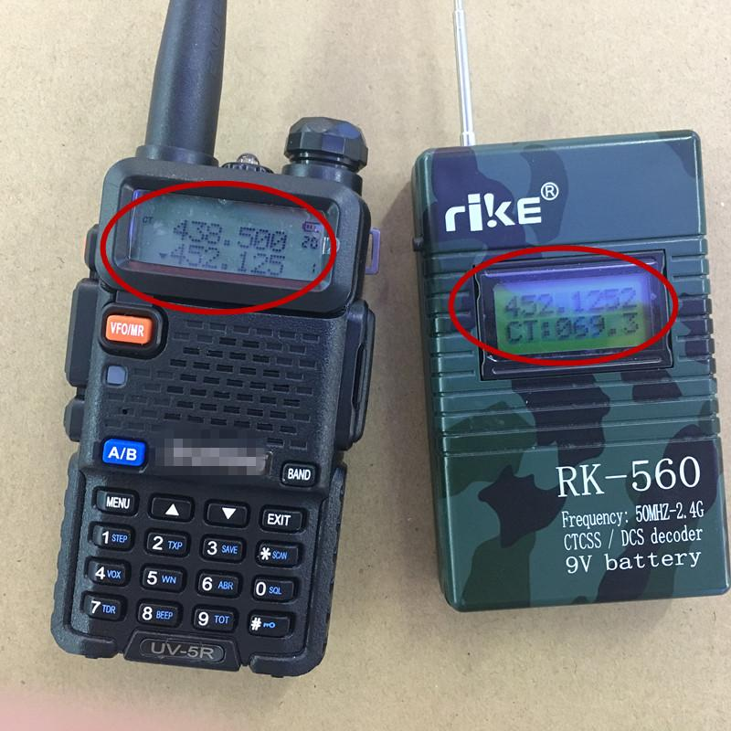 High sensitive handheld frequency meter 50mhz-2 4G for walkie talkie ham  radio CTCSS DCS decoder