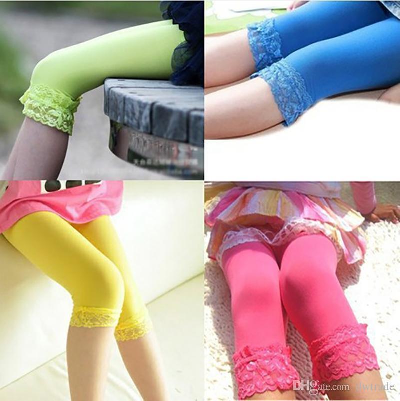 8ed1c983a690 2019 Baby Girl Candy Color Velvet Leggings Summer Children Fashion ...