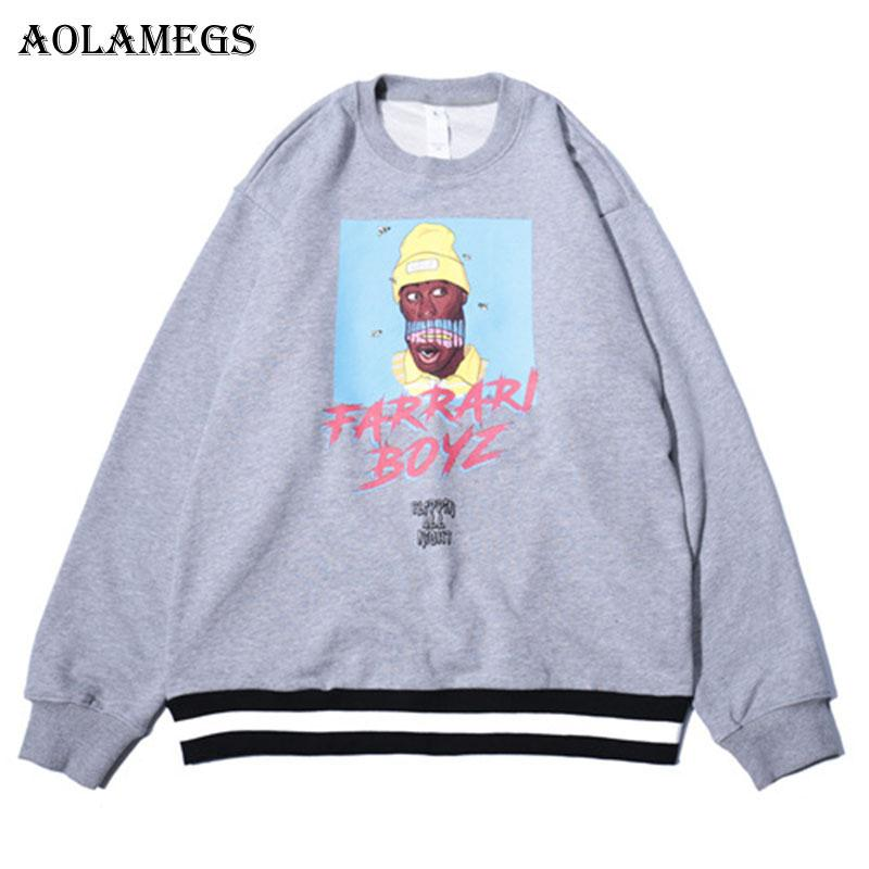 d11a233ab70c7 2019 Aolamegs Hoodies Men Cartoon Print Ribbon Hoodie Pullover Hooded  Fashion Hip Hop Streetwear Sweatshirts Couple Autumn Winter From Cute08, ...
