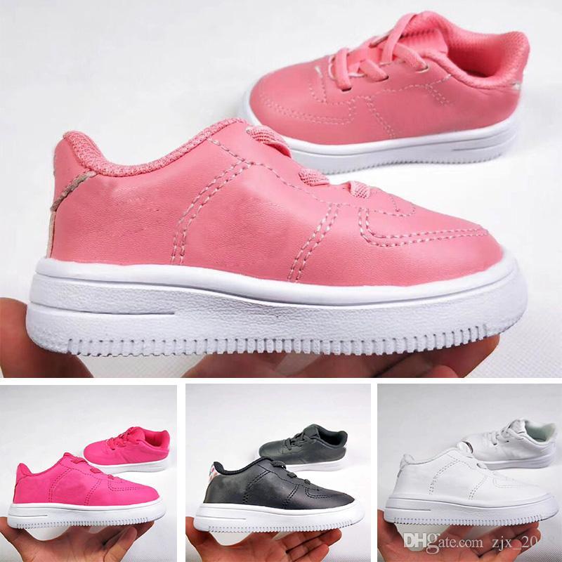 enfants Nike Air Force One Pink blanc Discount Vente en gros
