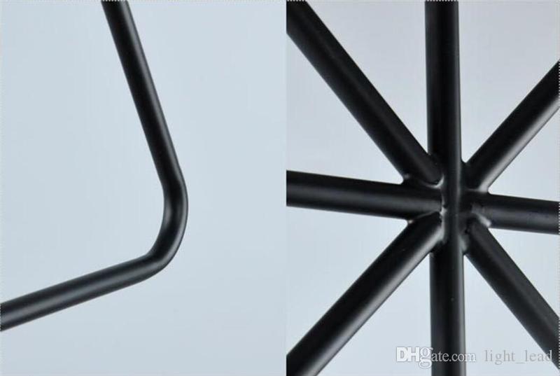 Modern LED Pendant Lamp Geometric Shape Iron E27 Lamp Holder 90-260V Coffee Shop Bar Foyer Dining Room Indoor Lighting