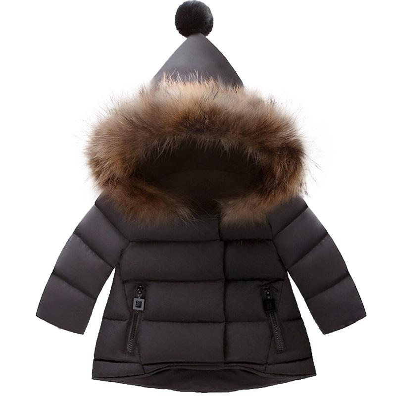 badac6a2b Girl winter warm down jacket parka for girls boys coats down jackets  children's clothing for snow wear kids outerwear Baby coats