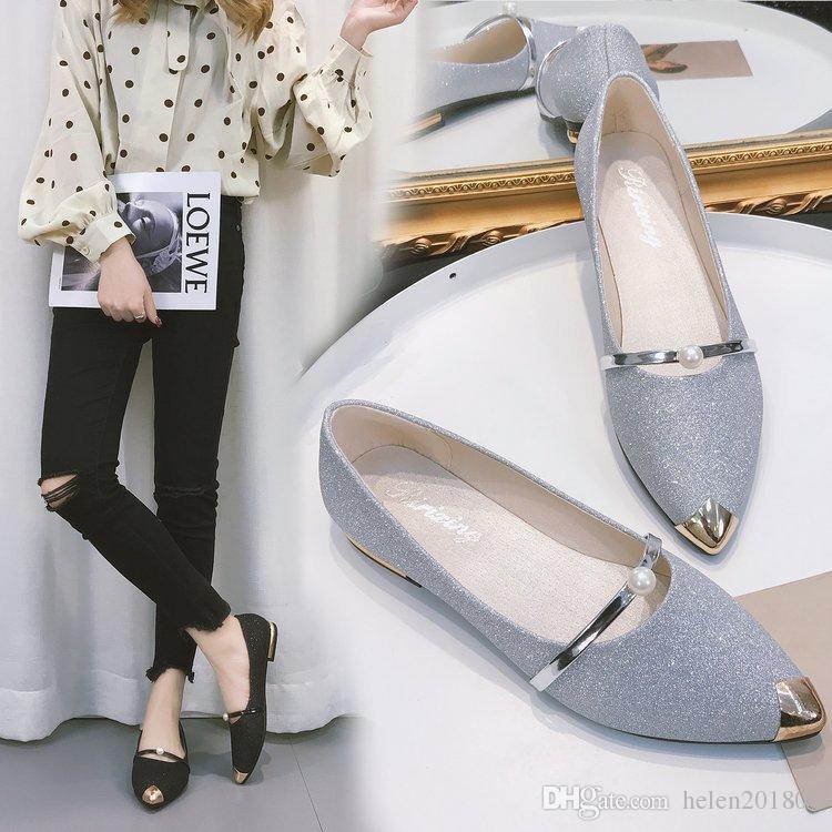 cfaabc43c551 2018 Hot Sales Glitter Rhinestone Spiked Flat Shoes Women Luxury ...