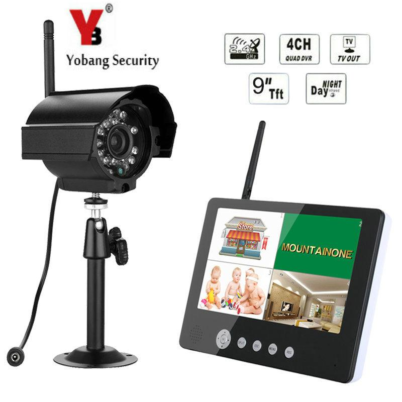 2515d3d0b46 2019 Yobang Security Wireless Surveillance Camera System 4 Channel Home Security  CCTV Wifi NVR Kit With 9 Inch Monitor And HD Camera From Xanto