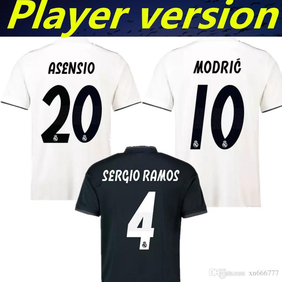 7d24ecdc94 Compre Jogador Versão Real Madrid 2019 Asensio Bale Modelo Isco Kroos Camisa  De Futebol 18 19 Casa Fora Ronaldo Camiseta Camisa De Futebol Jeresys De ...