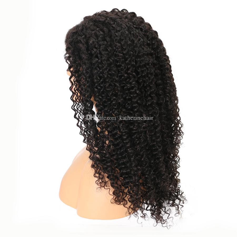 indian remy hair wigs kinky curly human hair lace front wig for black women loose curly free part