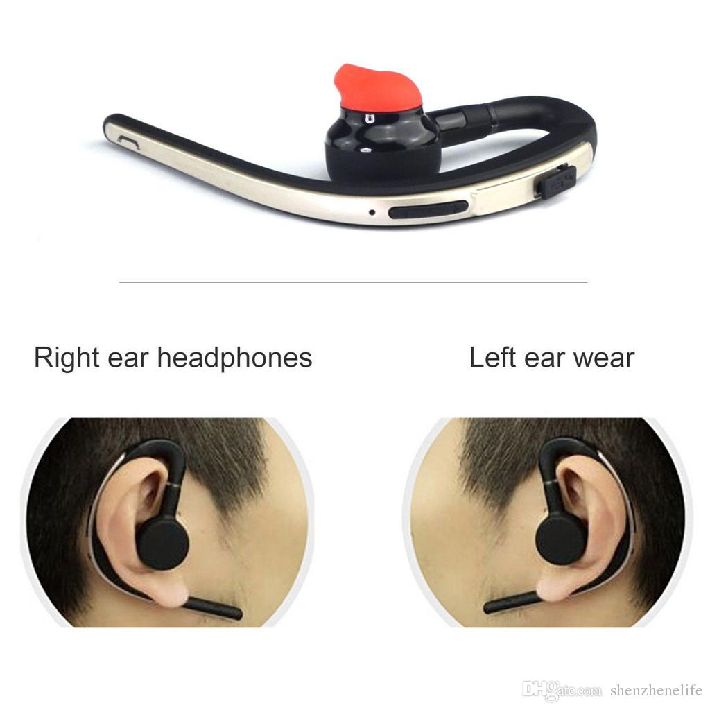 Rotate Mono Wireless Bluetooth Ear hook Earphone Incoming Call Reading Hands Free Wireless Bluetooth Headset With Clear Sound Quality