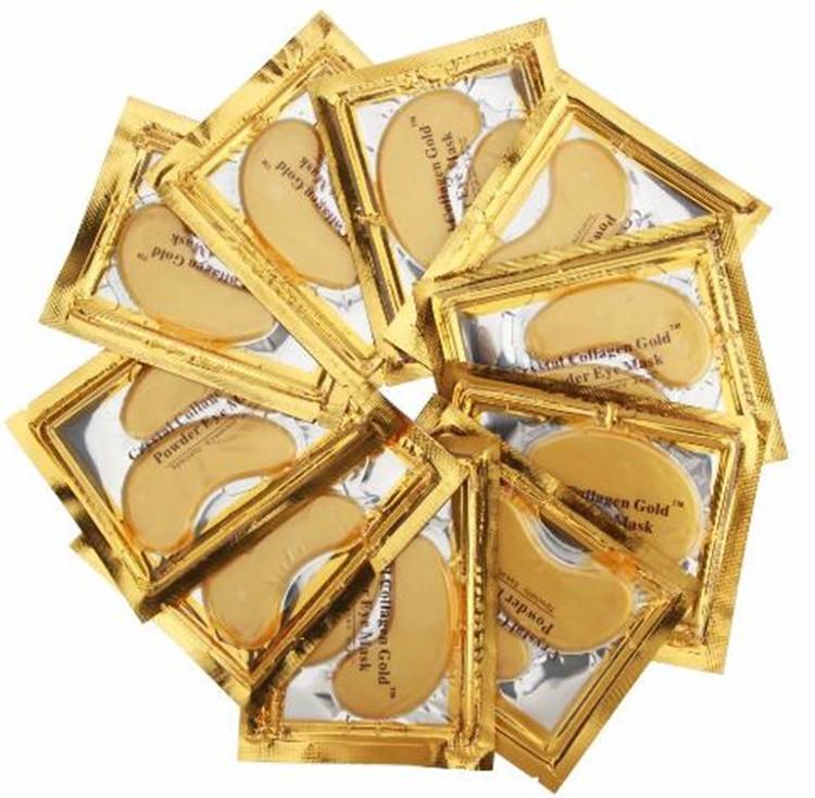 Großhandelsgoldkristallkollagen-Schlafenaugenmaske Hotsale Augenklappen-Wimperntuschen = 50 Satz feine Linien Gesichtspflege-Hautpflege