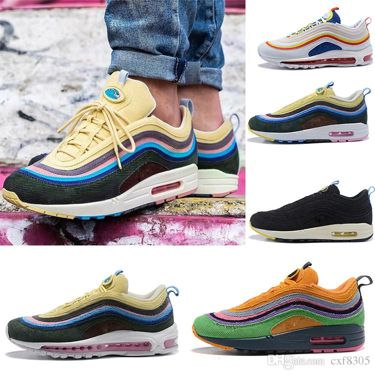 9cc613e2bd 2018 HOT Sean Wotherspoon X 1/97 VF SW Corduroy Running Shoes Mens Low Top  Sneakers Casual Shoes 97 Women Trainers Designer Shoes Size 36 45 Sports  Shoes ...