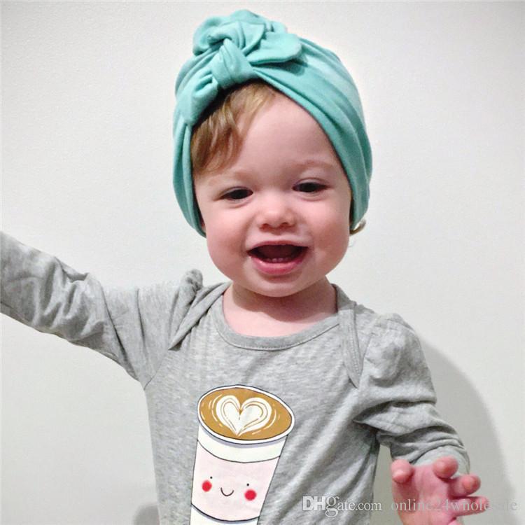 Compre Sombrero Del Turbante Del Bebé Con Turbantes Del Arco Para ...