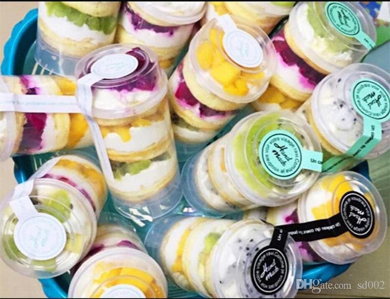 Tortas que empujan el barril plástico envases en forma de corazón de la categoría alimenticia magdalenas creativas herramientas de la torta de múltiples funciones 0 59sj Y