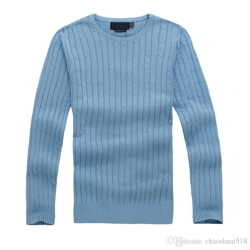2018 high quality mile wile men's twist sweater knit cotton sweater jumper pullover sweater