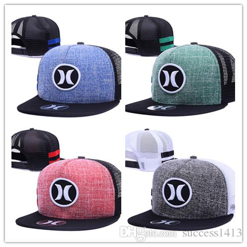 8003ce1165f ... get 2018 wholesale new arrival hurley mesh baseball caps sports bone  snapback hats hip hop casquette