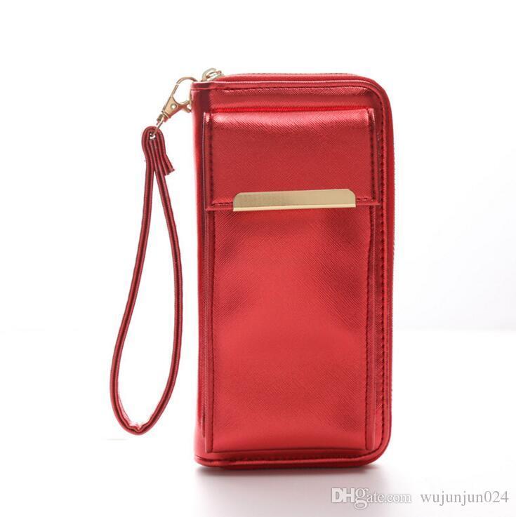 2018 New Zipper Clutch Wallet Women Phone Wallets Money Purse Female Slim  Wallet Organizer Card Holder Phone Coin Purse My Wallet Womens Wallets From  ... ef316c5e2c