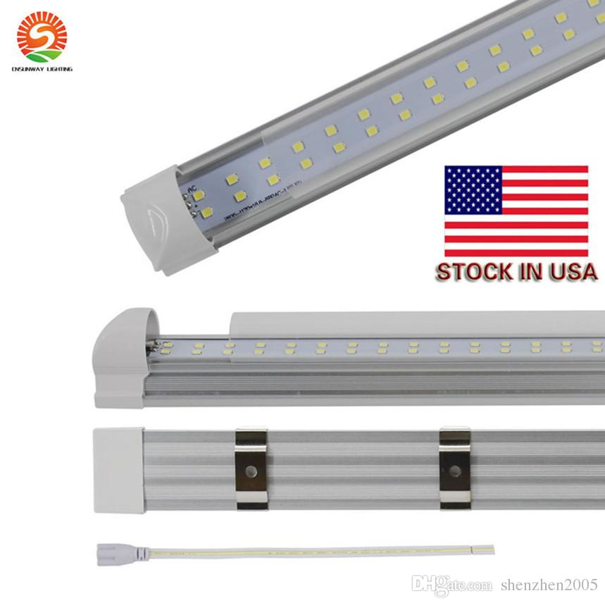 best quality T8 Integrated Double row led tube 1.2m 240led 4ft 36w 48w 8ft 72w SMD2835 led tubes Light led shop lights