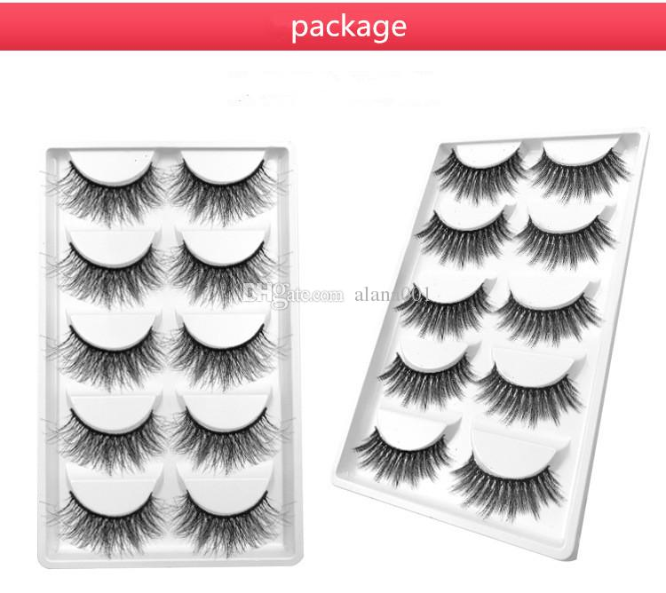Sıcak Satış 5 çift / kutu 3D göz lashes Kalın Doğal Göz Lashes El Yapımı Kirpikler seçtiğiniz için 10 modelleri