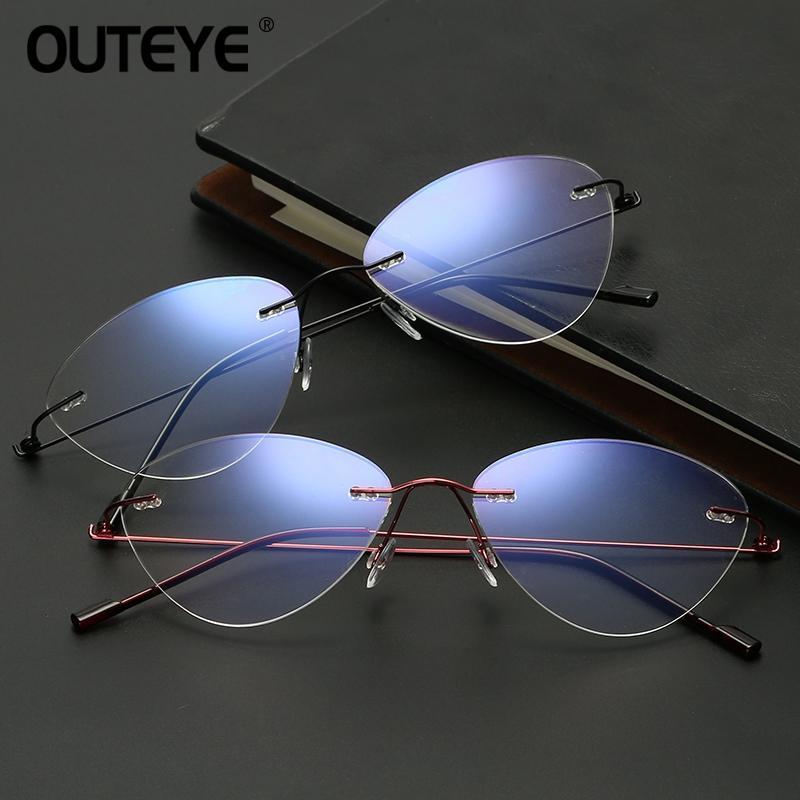 Großhandel Outeye Männer Optische Rahmen Brillen Rahmen Katze ...