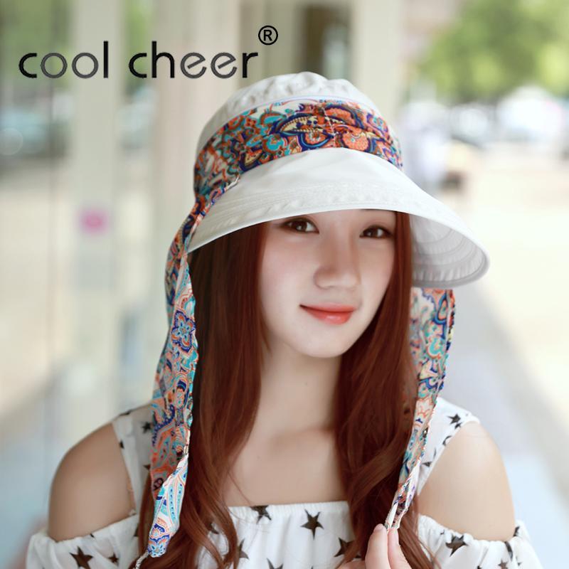 f3fd9356bdf CoolCheer New Arrival Ladies Hats Wide Brim Sun Hat Women UV Protection  Summer Cap Floral Design Beach HatsChapeu Feminino Hats In The Belfry Knit  Hats From ...